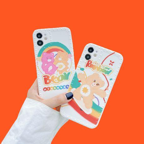 Husa protectie silicon telefon iPhone 12 Pro, carcasa model Bear Cute