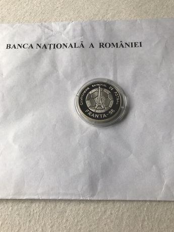 Campionatul mondial de fotbal Franta 1998 MONEDA argint 27gr proof BNR