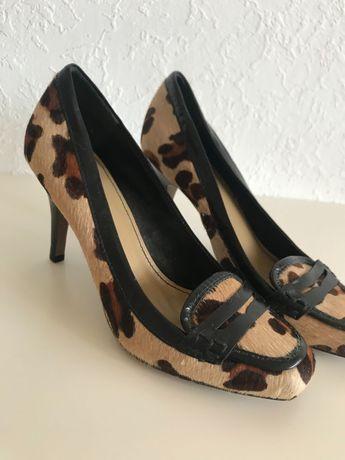 Pantofi superbi 39, piele cu par de Poney
