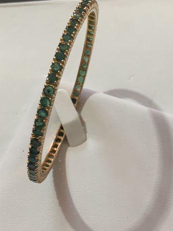 Bratara aur de 22 k cu smaralde