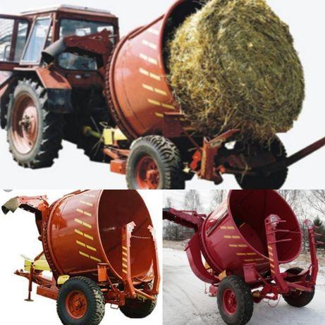 Измельчитель рулонов сена