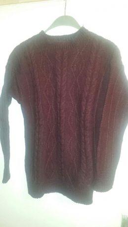 Плетен пуловер 100%вълна