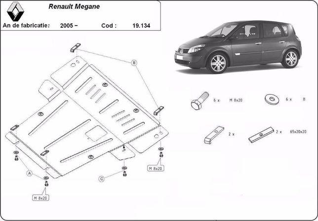 Scut metalic pentru motor Renault Megane 2004-2008 - otel 2mm