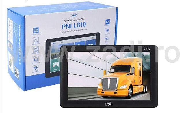 GPS pni l810- model camioane-gata de drum cu harti, suport, incarcator