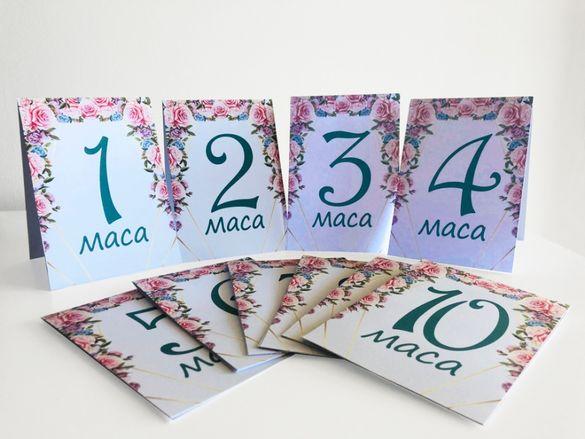 Табелки с номера на маси