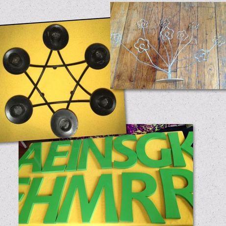 Големи букви IKEA за стена свещник 6 свещи стойка за 9 снимки