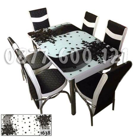 299 лв.!! ПРОМОЦИЯ!! разтегателна маса + 6 стола
