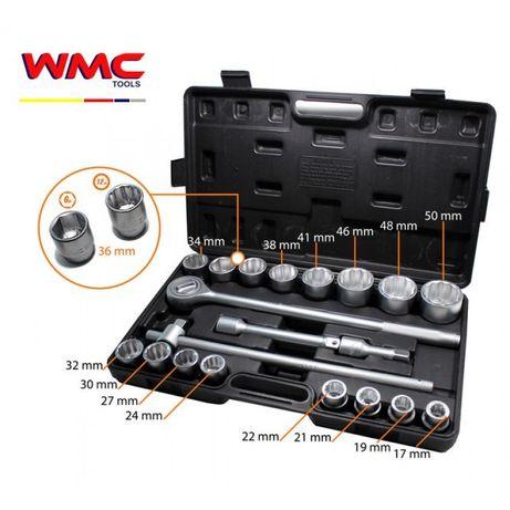Гедоре комплект 3/4 21 части 12-стен 17-50 мм WMC