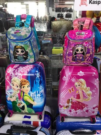 Двойка чемодан + рюкзак для девочек