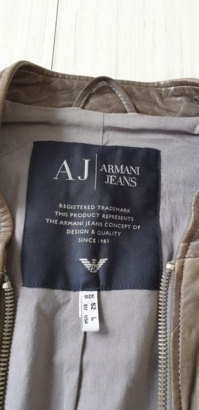 Armani Jeans AJ Leather Mens Size 52L ОРИГИНАЛ! Овча кожа!