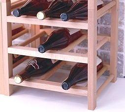 Raft din lemn masiv pt 9 sticle de vin - calitate excelenta - Nou