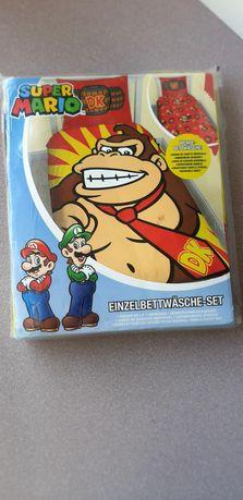 Lenjerie de pat reversibila Super Mario DK