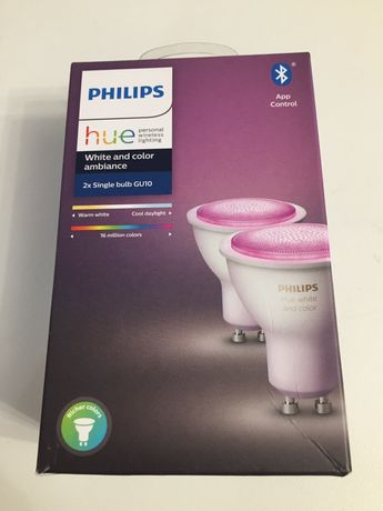 Philips hue GU 10 color 2*50w,NOI!!!