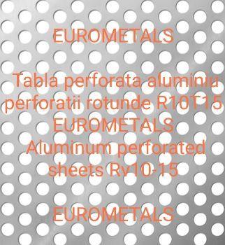 Tabla perforata aluminiu decorativa perforatie rotunda #2mm R10T15