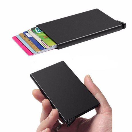 Алуминиев портфейл/ органайзер за кредитни карти, лични документи и др