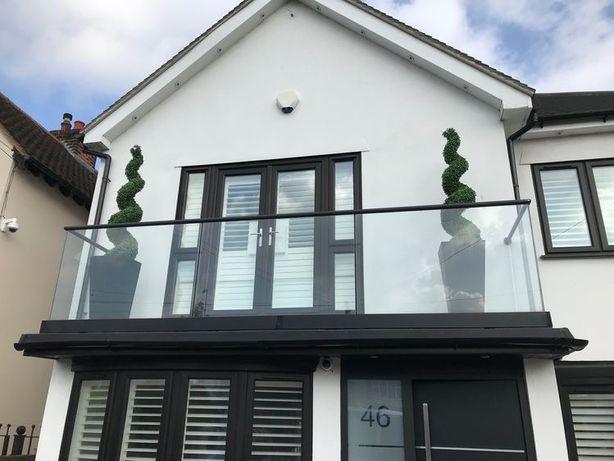 balustrade cu sticla securizata si laminata pentru scari si balcoane