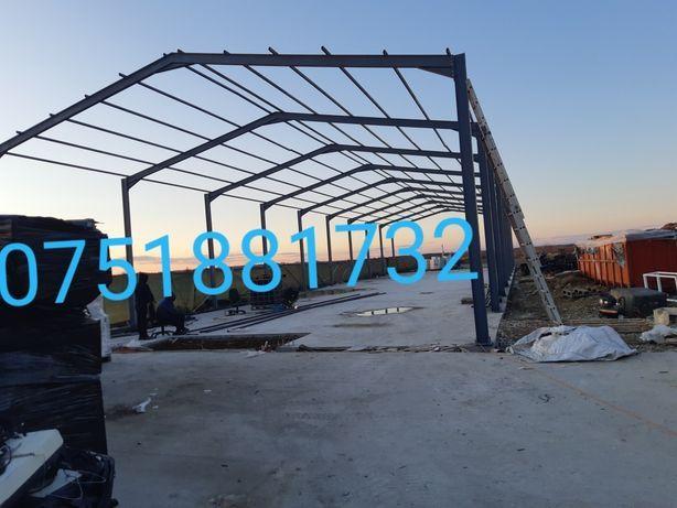 Hala metalica,20 m lungime cu 13 m latime,inaltime la streasena 4,5 m,