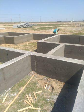 Залеваем ленточный фундамент быстро и качественно, за куб 9000тг
