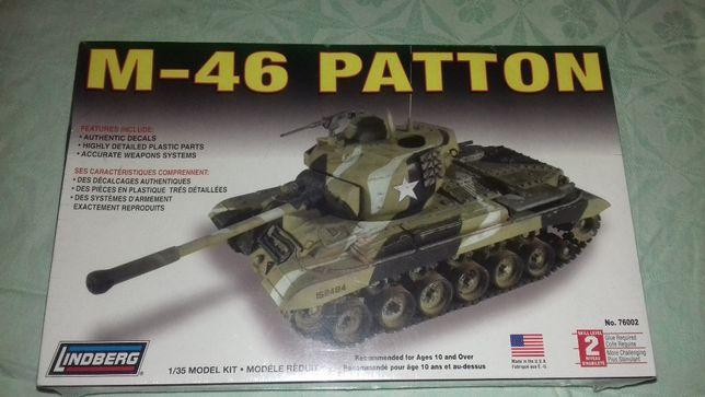 Jucarie Tank de construit M-46 US Tank Lindberg
