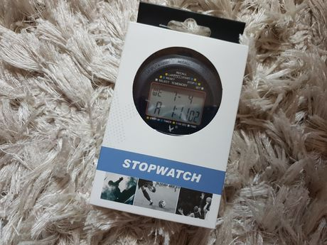 JZK Professional Digital Sports Watch Stopwatch, 2 Row 10 Memory, Coun