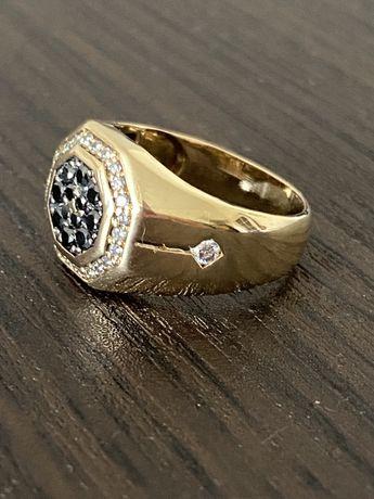 Продам мужское золотое кольцо (печатка) 750 проба