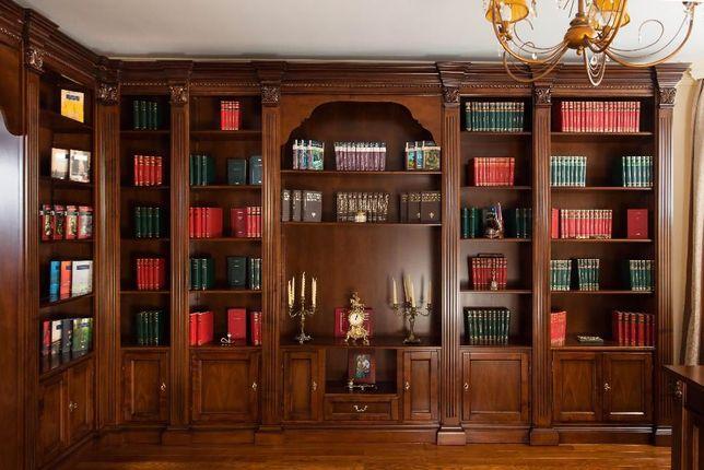 Mobila birou lemn masiv si biblioteca clasica Elena - CONFIGURABILA