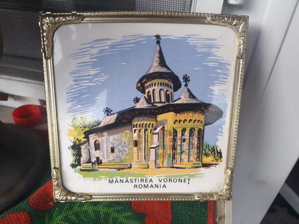 Manastirea Voronet pictura pe faianță aplica