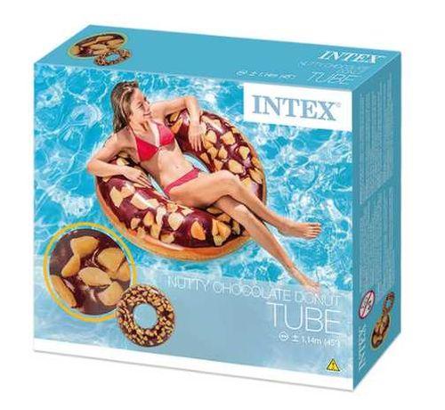 Colac piscina Intex Nutty Chocolate Donut 1.14m,