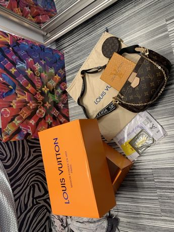 Geanta Louis Vuitton/Piele naturală,nu eco.Cod AUTENTICITATE interior