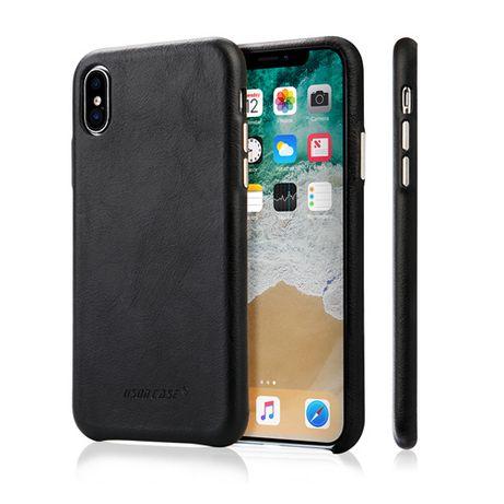 Husa iPHONE X, XS slim piele naturala, Jison Case, back cover 5 culori