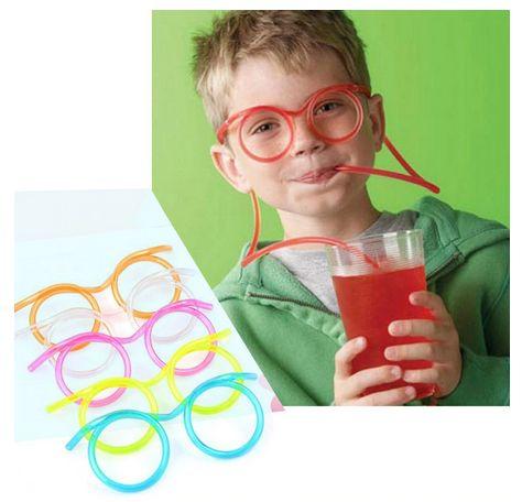 Детски парти сламки - очила