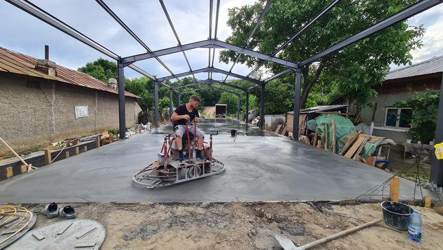 Turnare sapa beton finisat sclivisit cu elicopter și cuart