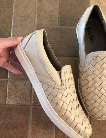 Pantofi bej piele barbatesti marime 43