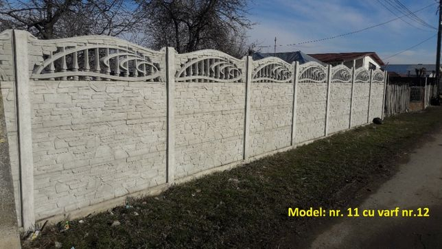 Gard placi prefabricate din beton - diverse modele - asiguram montaj O