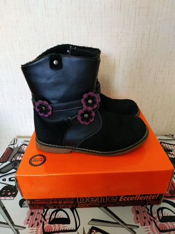Обувь для девочки демисезонные сапоги ботинки полусапожки 31 размера