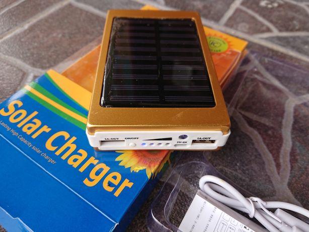Baterie power bank solar charger 20.000 mAh și funcție de felinar