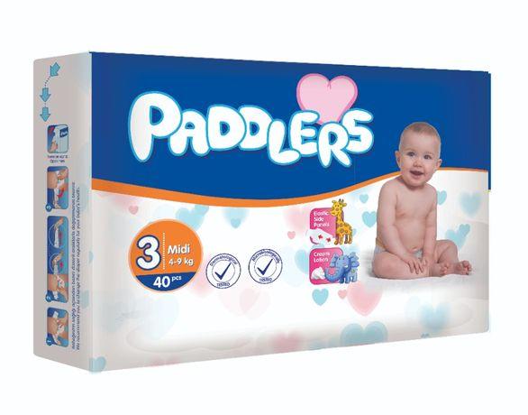 70Buc Scutece copii, Padddlers, -35%, Midi, 4-9 Kg, 5-9 luni, Marime 3