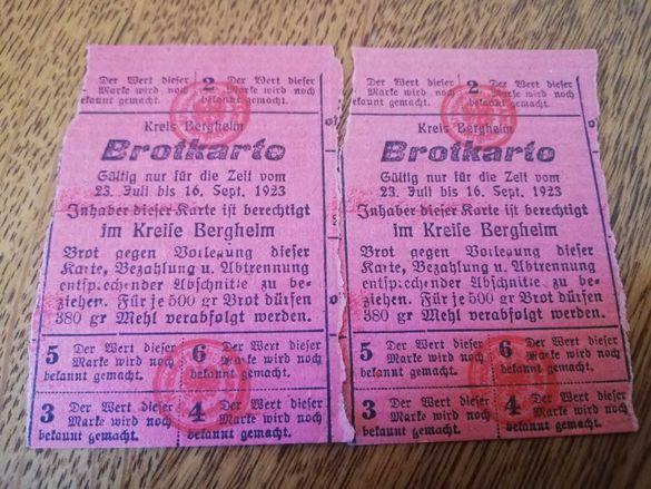 Brotkarte 1923