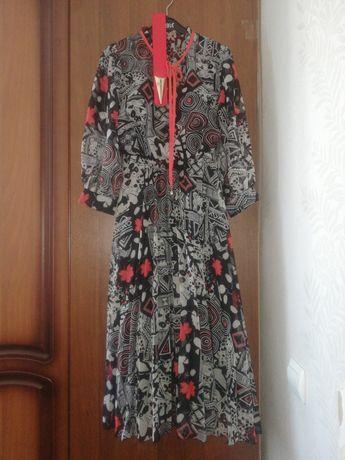 Шикарное платье шифоновое