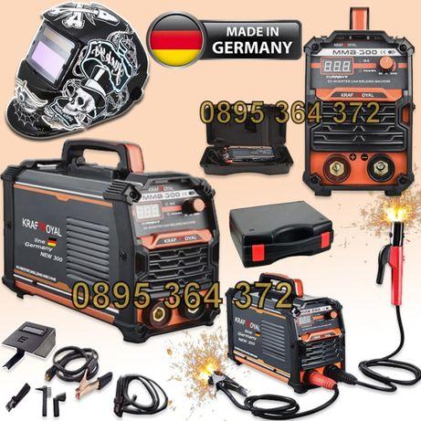 Немски Инверторен Електрожен в Куфар 300А KrafT Royal + Маска 01