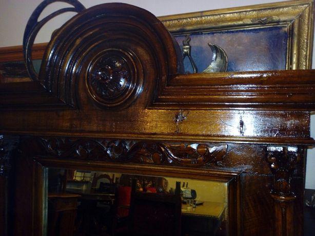 Oglinda sculptata lemn Renastere de sec XIX