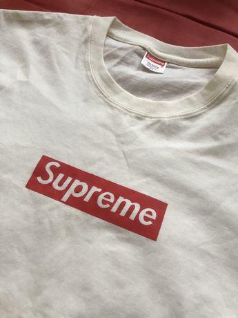 SUPREME футболка белая, размер М
