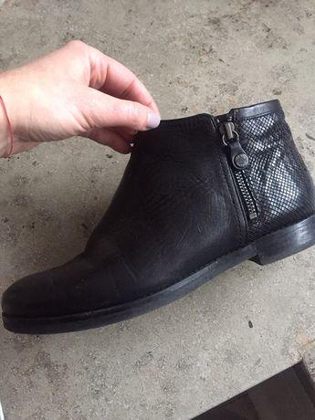 Pantofi/cizmulita GEOX Respira piele neagra 39