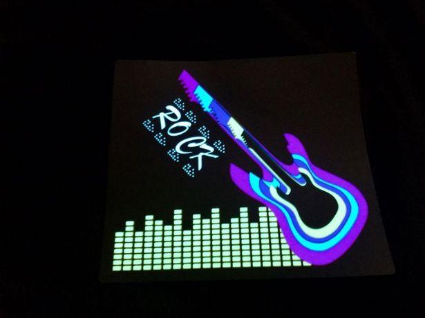 Tricou / Top luminos (cu baterii) ROCK ideal festival