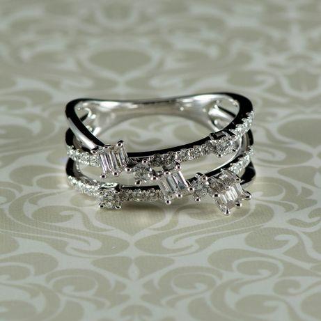 Inel 4,70 grame aur alb cu diamante (cod 8252)