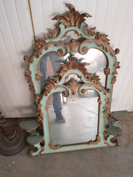 Антична венецианска спалня - мебели / венециански барок - ретро мебели