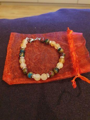 Bratara cu pietre semiprețioase si cristale