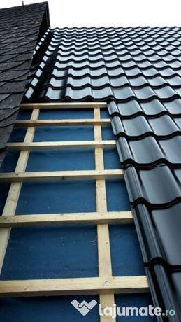 Reparatii acoperisuri tigla metalica montaj jgheaburi reparatii velux