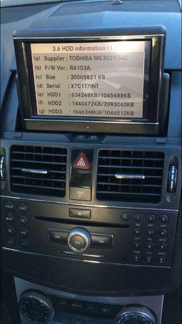 Mercedes Comand Ntg4 W204 Отключване Хард Диск Ъпдейт на 30гб с V16