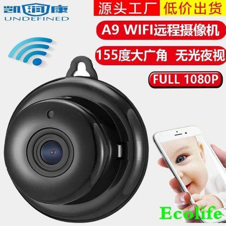 Мини WiFi HD 1080P камера, шпионска, охранителна и бебефон